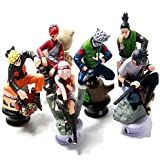 Scienish 6pcs/lot Naruto 8cm Chess Action Figure Sasuke Ninja Model Toy