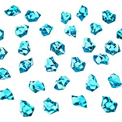 Acrylic Color Ice Rock Crystals Treasure Gems for Table Scatters, Vase Fillers, Event, Wedding, Arts & Crafts, Birthday Decoration Favor (190 Pieces) by Super Z Outlet (Turquoise)