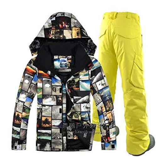 nbsp;imperméable nbsp;homme nbsp;ski nbsp;ski nbsp; Double Board nbsp; Pantalon Snowboard A1 Veste nbsp;hiver Pour nbsp; De Ski Homme nbsp; Combinaison nbsp;veste Hommes Vêtements Kunhan Combinaison wxCq8znO6n