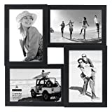 Malden International Designs Puzzle Collage Picture Frame, 4 Option, 4-4x6, Black