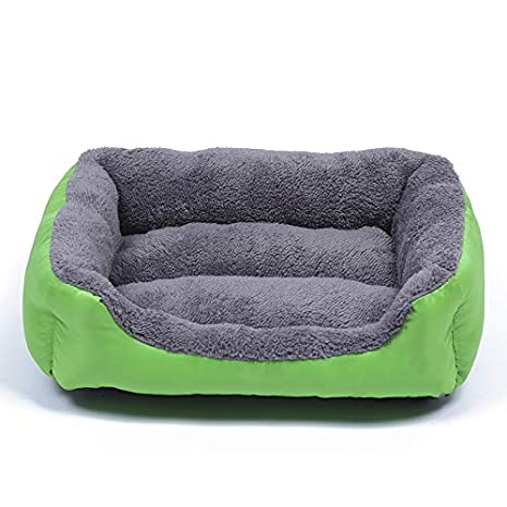 XIERU Cama de Perro medianos, Sofá Cama para Cojín Cómoda Suave para Impermeable Base-Verde-L: Amazon.es: Productos para mascotas