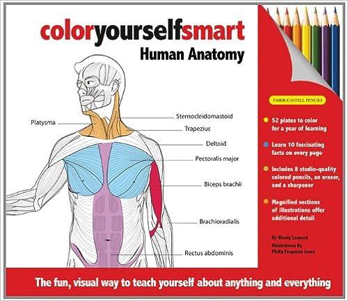 Color Yourself Smart Human Anatomy 9781607102175 Medicine Health Science Books Amazon