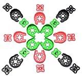 Readytosky 12pcs 2204 2205 2206 Motor Guard Protector w/ Landing Gear quad(Red Green Black) gift