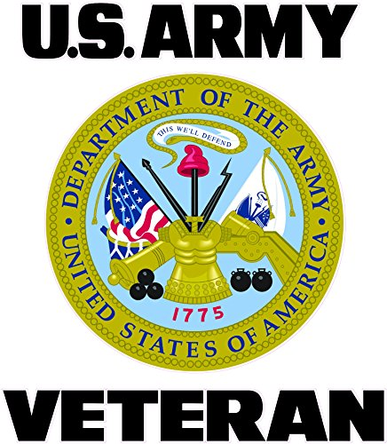 """Nostalgia Decals U.S. Army Veteran Shield Decal 6"""" for sale  Delivered anywhere in USA"""