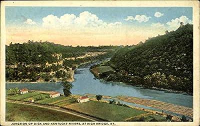 Junction Of Dix And Kentucky Rivers High Bridge Original Vintage Postcard