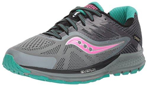 Saucony Women's Ride GTX Running Shoe, Grey Pink, 10 Medium US