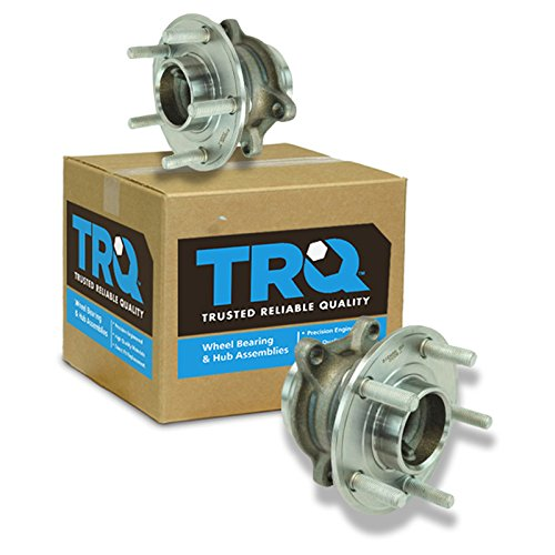 TRQ Wheel Bearing & Hub Assembly Driver & Passenger Rear Pair for Ford Focus