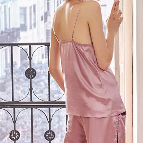 Camisón Mujer Piezas Y Franela E De Servicio Tres Invierno Damas Sexo Otoño Para Pink Pijamas A M Sensualidad color Sexy Size Domicilio Pink Túnica U8qaSI