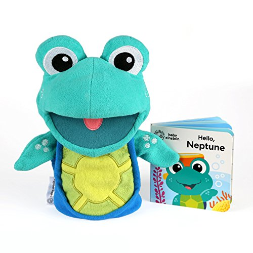 Baby Einstein Storytime with Neptune Plush Puppet Toy & Book, Ages 6 months and up