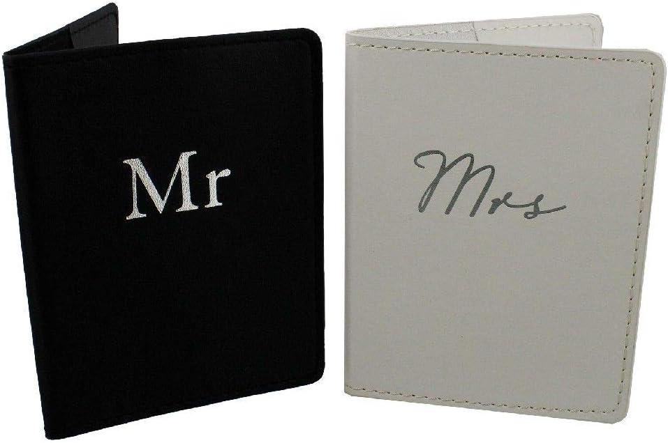 Mr et Mme Porte-passeport Set Boite De Cadeau