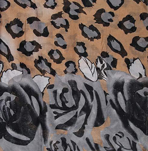 Boucle Gris De Roses Paillettes Écharpe Femmes U6nOxXI