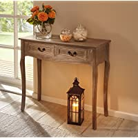 Nostalgie 2 Drawer Wood Console Table w/ Metal Handles - Natural Product SKU: HD221576