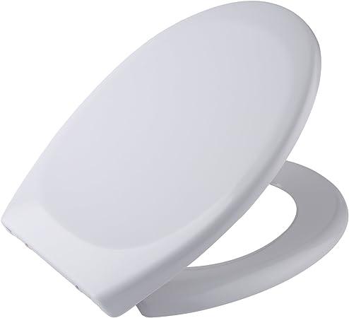 NEW SHINY WHITE SOFT SLOW CLOSING TOILET SEAT ANTI SLAM WHITE FAMILY BATHROOM