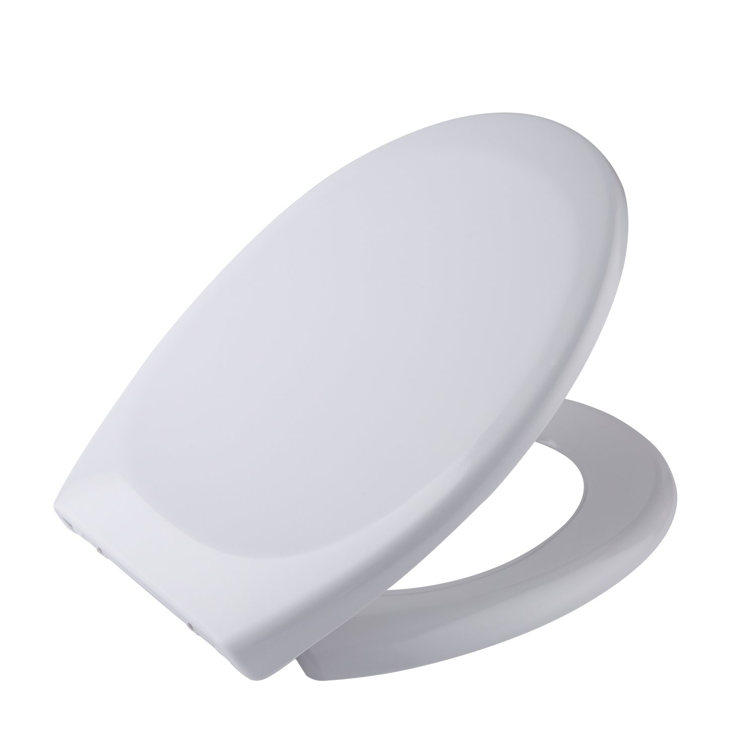BATHWA Premium Round Toilet Seat with Cover, Soft-Close, Quick-Release, Ultra-thin for Easy Cleaning. Fits All Manufacturers' Round Toilets