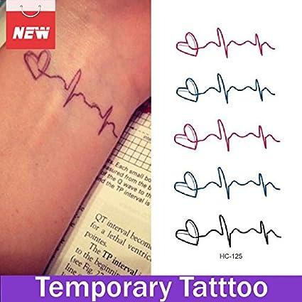 Oxita Tm 1 Hoja Corazón Electrocardiograma Ecg Impermeable