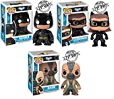 Funko POP Heroes: Dark Knight Rises Movie Vinyl Figures Set: Batman, Catwoman, Bane