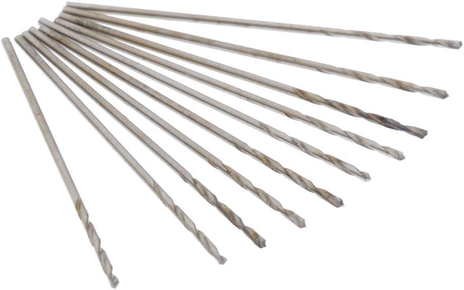 0.7mm 5/% Cobalt Sharp 10 Pieces 0.5-0.9mm Drill Bits Premium High Speed Steel
