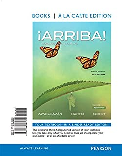 Amazon answer key for the student activities manual for arriba arriba comunicacin y cultura 2015 release books a la carte edition fandeluxe Images