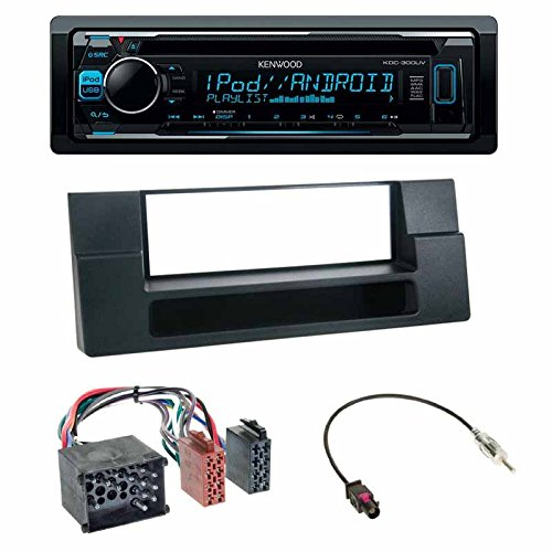 E53 Einbauset : Kenwood KDC-300UV CD Autoradio 06//1996-04//2004 // X5 Antennenadapter f/ür BMW 5er 05//2000-09//2006 09//1995-05//2003 // 5er Radioblende Radio Blende schwarz E39 E39 ISO-Adapter