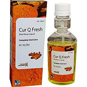 BSA PHARMA CUR-Q-FRESH-TULSI CURCUMIN MINT HERBAL MOUTH WASH(Pack of 2)-100ml for complete oral care