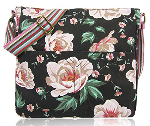 Design Anchor Tote Animal Handle Various Flower And Bag Handbag Umbrella Crossbody Black Kukubird Top Shoulder Crossbody Y0xAw50