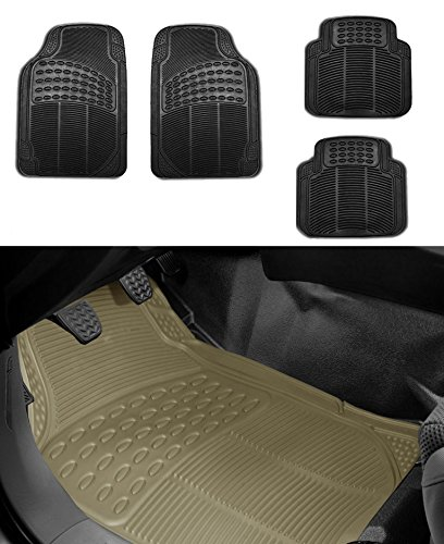 FH Group FH-F11305+F16400 Full Set Gray All Weather Heavy Duty Auto Floor Mat and Gray Trunk Cargo Liner