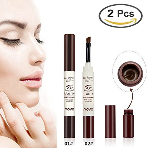 GARYOB Brown Eyebrow Tint Gel, 2Pcs Waterproof Long Lasting Natural Eyebrow Dye Cream for Eyebrow - Define Tints