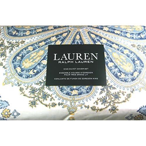 Lauren 3 Pc Floral Paisley Medallion King Size Duvet Cover Set with 2 King Shams 100% Cotton supplier