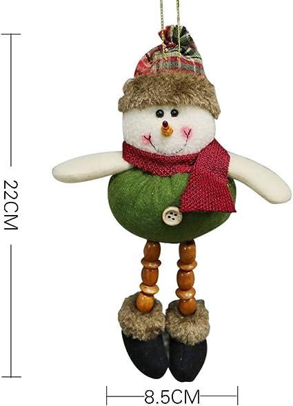 CXLY Decoraci/ón navide/ña Mu/ñecas Pap/á Noel Elk Mu/ñeco de Nieve Decoraci/ón de Ventana Suministros navide/ños Decoraci/ón navide/ña Mu/ñecas Navidad n/órdica