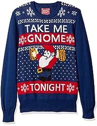 Men's Take Me Gnome Tonight Ugly Christmas Sweater