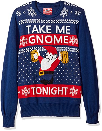 Hybrid Men's Take Me GNOME Tonight Ugly Christmas Sweater