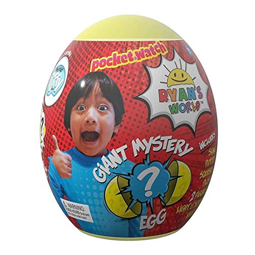 (Ryan's World Toys Surprise Mystery Giant Egg, Yellow)
