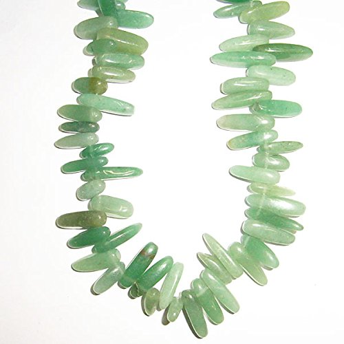 TheTasteJewelry 4x20mm Max - Stick Branch Aventurine Green Beads 15 inches 38cm Jewelry Making Necklace Healing