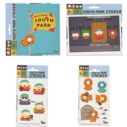 LOT 4 pcs Stickers decal South Park Kenny Stan Kyle Cartman Popular Characters