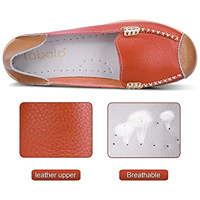 labato Women's Soft Leather Loafers Casual Flats Driving Moccasin Slip on Comfort Shoes | Loafers & Slip-Ons