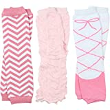 3 Pairs of girls juDanzy baby Leg Warmers for newborn, infant, toddler, child