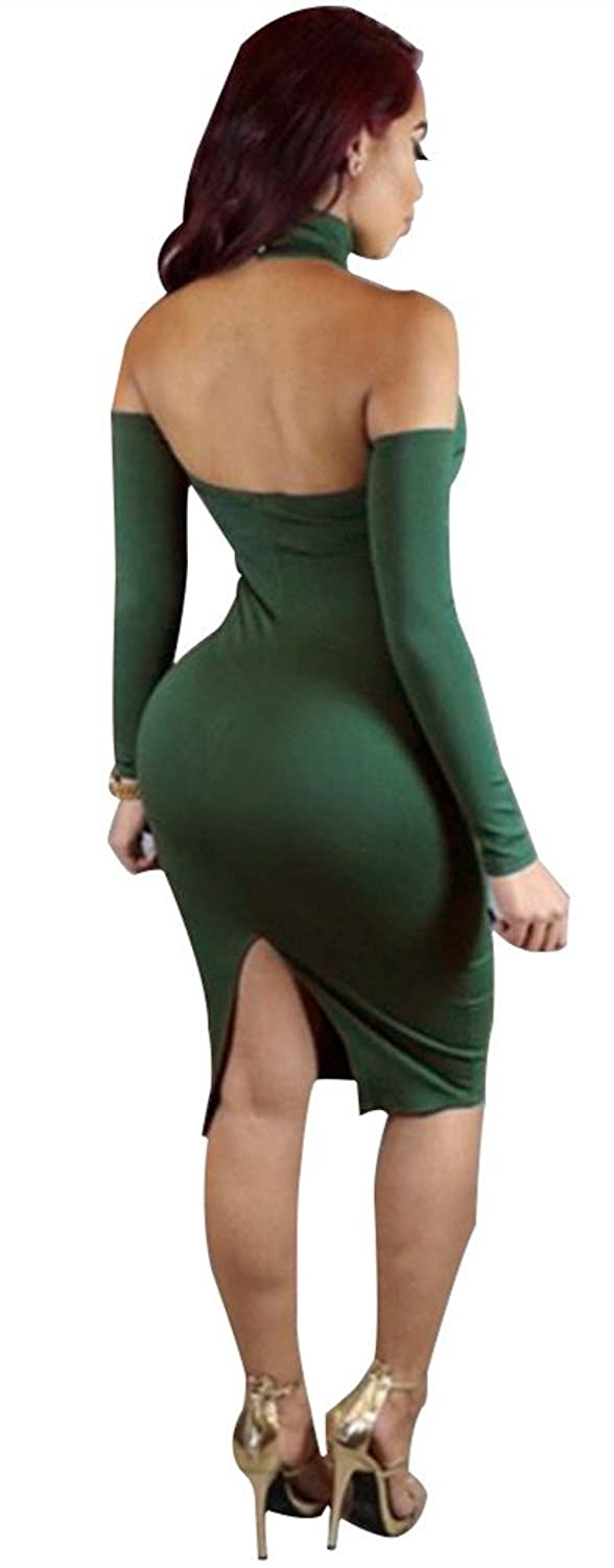 VIVOSKY Womens Sexy Off Shoulder Bodycon Party Bandage Club Dresses
