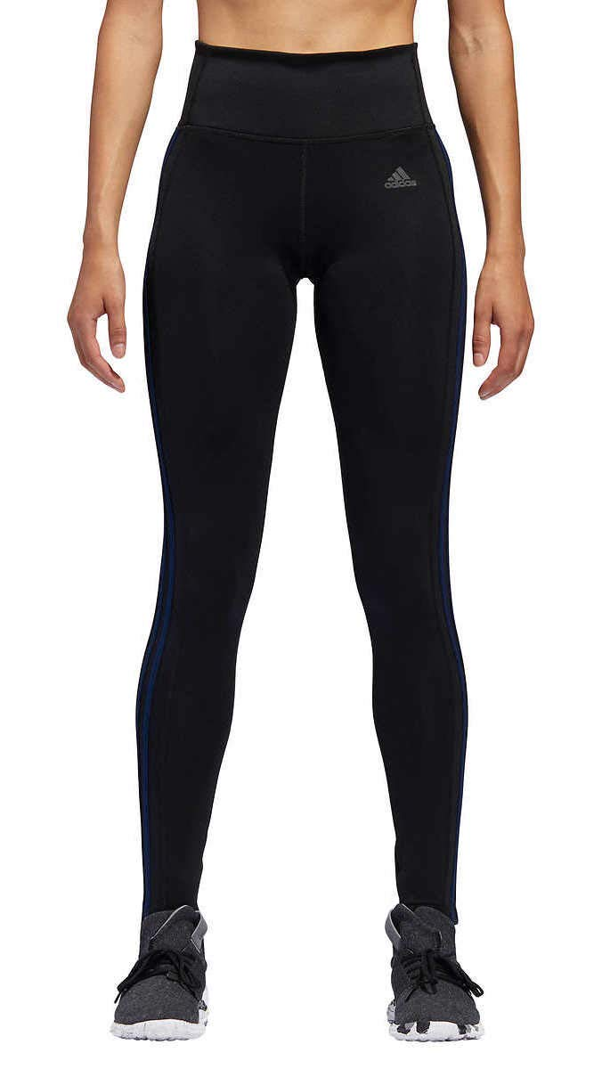 adidas Womens 3 Stripe Active Tights Black/Collegiate Navy Small