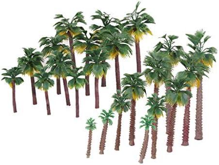 T TOOYFUL 1/45-1/150 樹木 木 モデルツリー ヤシの木 鉄道模型 ジオラマ 箱庭 鉄道 風景 DIY 装飾 レイアウト 約24個入