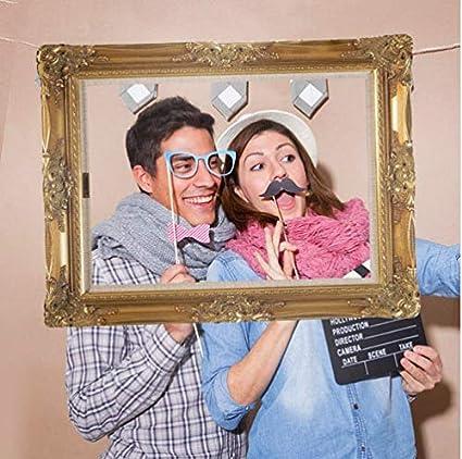 Amazoncom Taka Co Photo Booth Props Wedding Paper Photo Frame