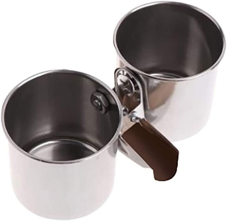 RRQG Parrot Feeding Cups Hanging Pet Animal Stainless Steel Birdcage Bowls Bird Bowls for Cage Parakeet Bird Cage Accessories for Small?Medium Bird(Two)