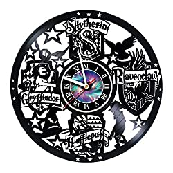 KravchArt Harry Potter - Vinyl Record Wall Clock- Wizards School Unique Living Kitchen Kids Room Wall Decor - Gift idea for Children, Teens, Adults - Leave a Feedback and Win a Clock!