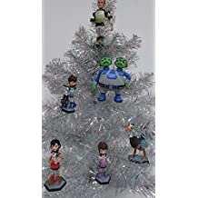 "Disney MILES From TOMORROWLAND Christmas Tree Ornament Set Featuring Miles, Loretta, Phoebe, Leo, Merc, Watson and Crick, Ornaments Average 2.5"" to 4"" Tall"