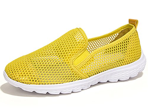Weideng Womens Summer Shoes Mesh Slip On Lightweight Athletic Quick Dry Water Shoes Giallo