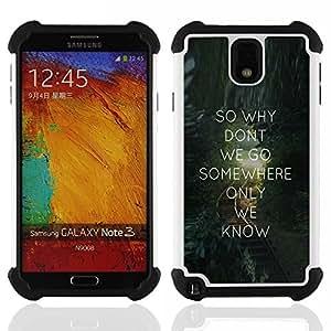Dragon Case- Dise?¡Ào de doble capa pata de cabra Tuff Impacto Armor h??brido de goma suave de silicona cubierta d FOR Samsung Galaxy Note3 N9000 N9008V N9009- VALENTINES GIFT LOVE MESSAGE TEXT QUOTE