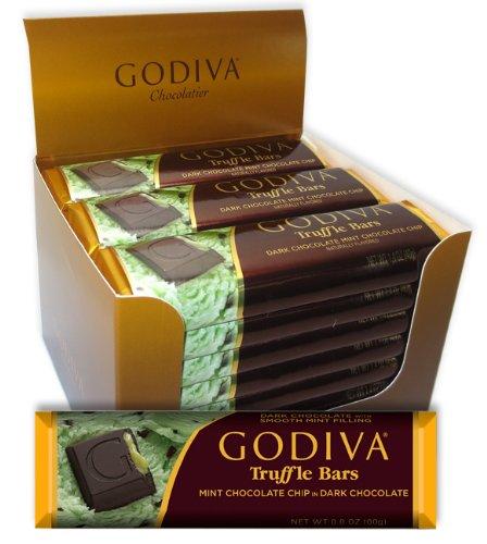 Godiva Dark Truffle Mint Chocolate Chip Bar 1.4oz (8-pack)