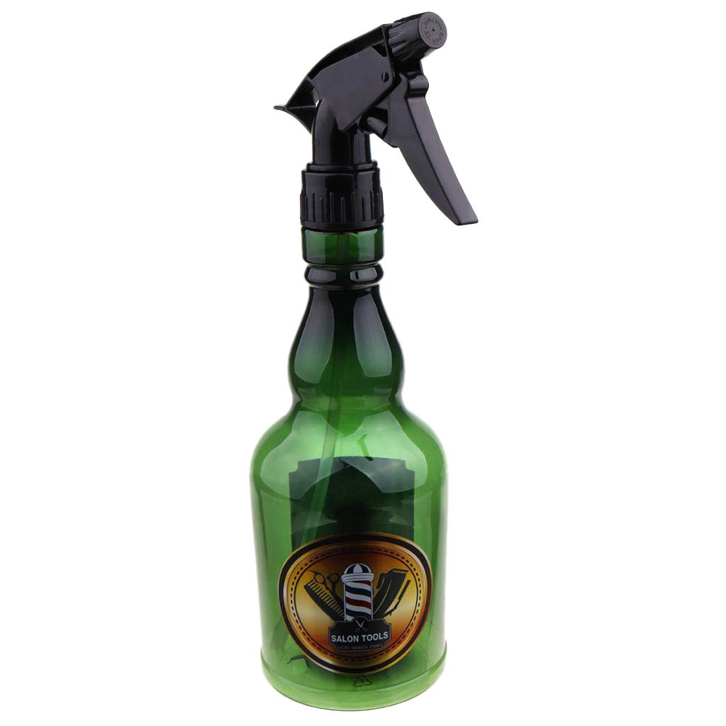 Beautywin Empty Water Spray Bottle - Continuous Mist Sprayer Container - Multi Purpose & Durable (Green 280ML) by Beautywin