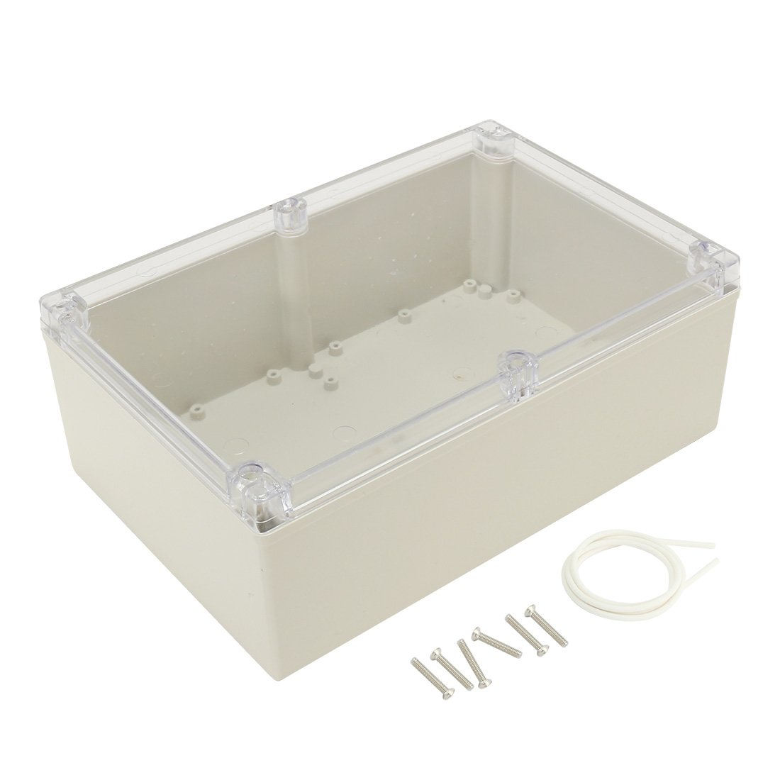 uxcell 9.4''x6.3''x3.54''(240mmx160mmx90mm) ABS Junction Box Electric Project Enclosure Clear