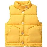 Chaleco para Niños Unisex - Otoño Invierno Cálido Chaquetas Bebé Niños Niñas Moda sin Mangas Abrigo Ropa con Botones