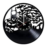 Welcome Everyday Arts Batman Movie Vinyl Record Wall Clock - Get unique living room wall decor - Gift ideas for men and women – DC Comics Unique Modern Art